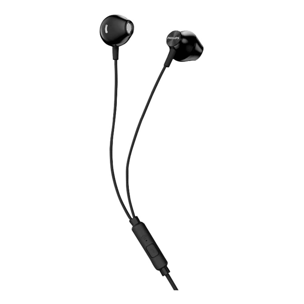 Fone de Ouvido Philips TAUE101 Preto Earbud com Microfone e Controle Grave Bass Sound TAUE101BK/00