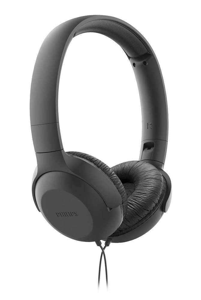 Fone de Ouvido Philips TAUH201 Preto Headphone Headset com Microfone e Controle no Cabo TAUH201BK/00