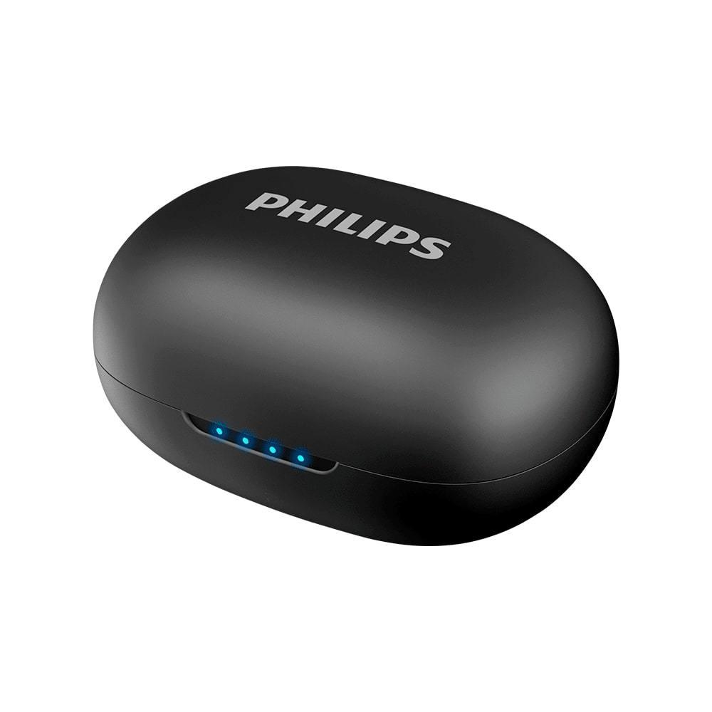 Fone de Ouvido Philips TAUT102 Preto Bluetooth 5.0 Sem Fio TWS True Wireless Stereo TAUT102BK/00