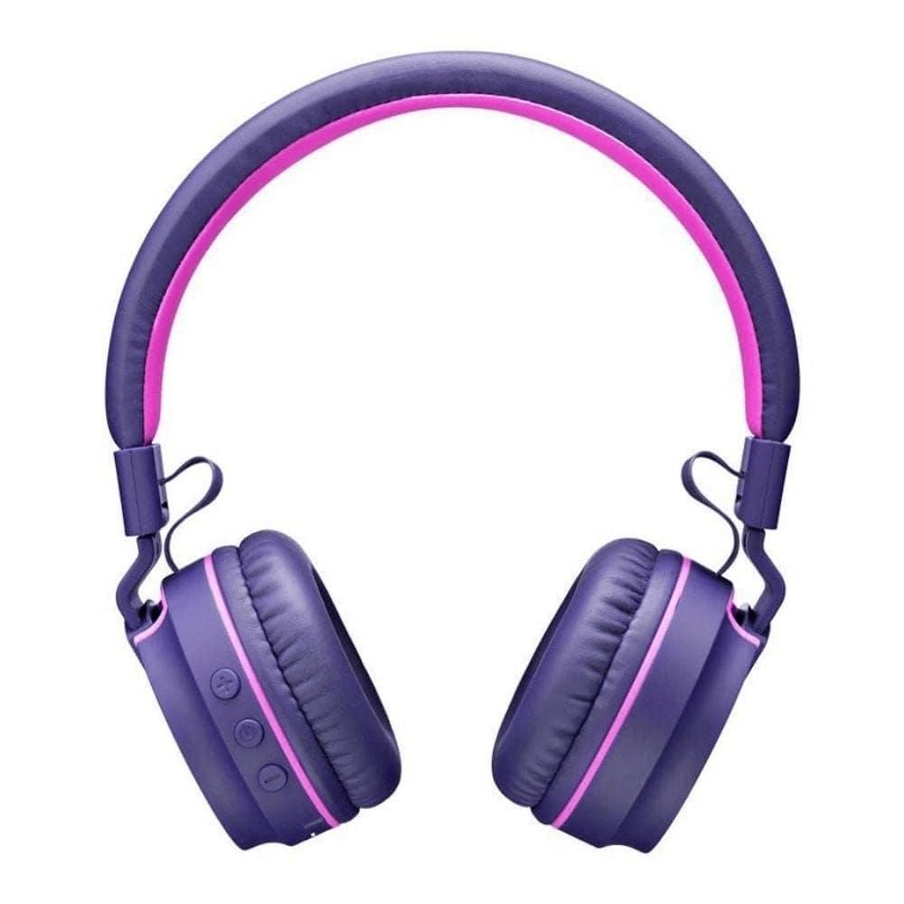 Fone de Ouvido Sem Fio Bluetooth Pulse PH217 Roxo Rosa Headphone com Microfone Leve Antônimo Potente