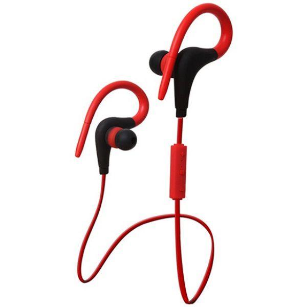 Fone de Ouvido Sem Fio Bluetooth Wireless Headset Quanta QTB55 Vermelho com Preto