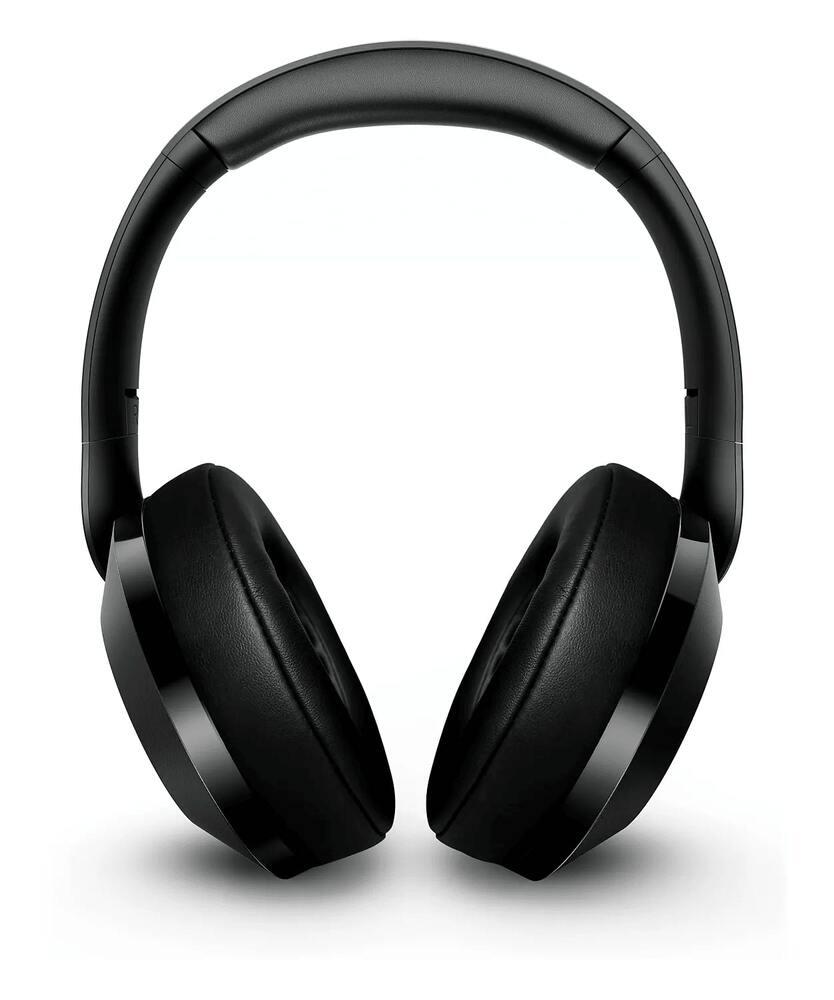 Fone de Ouvido Sem Fio Philips TAPH802 Bluetooth Preto Headphone Over Ear Hi-Res Audio TAPH802BK/00