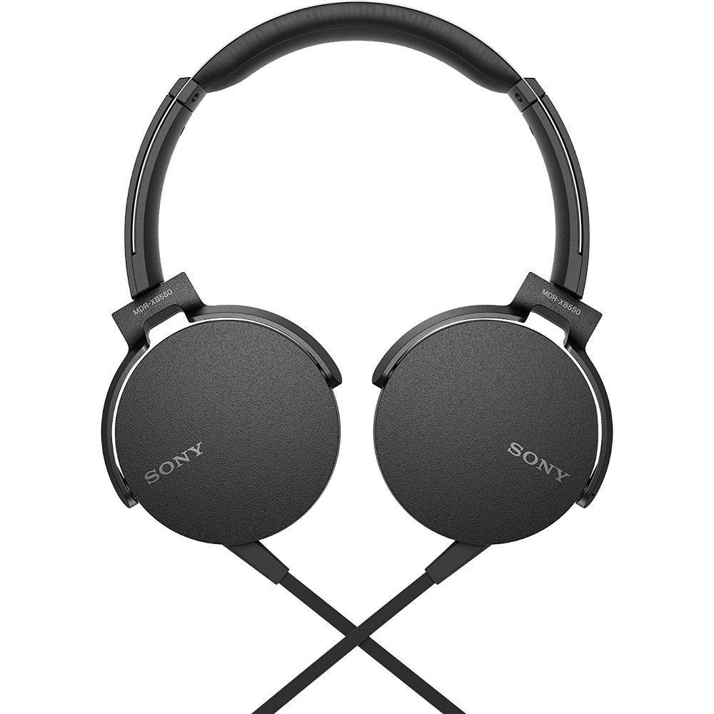 Fone de Ouvido Sony com Microfone  MDR-XB550AP Lançamento - Preto