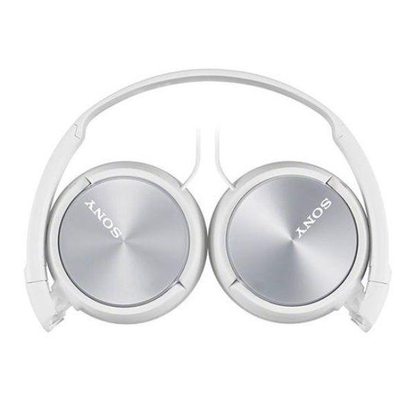 Fone de Ouvido Sony MDR-ZX310AP Branco Prata Headphone Dobrável Com Microfone Integrado