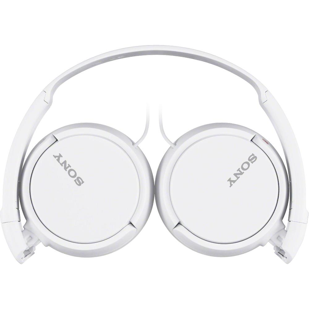 Fone de Ouvido Sony ZX110 Branco Headphone Universal com Plugue Conector P2 3,5mm MDR-ZX110/WC