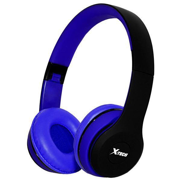 Fone de Ouvido Wireless com MP3 Player Rádio FM X-Tech EA94 - Azul