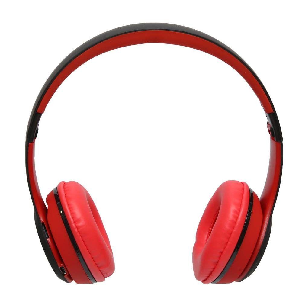 Fone de Ouvido Wireless com MP3 Player Rádio FM X-Tech EA94 - Vermelho