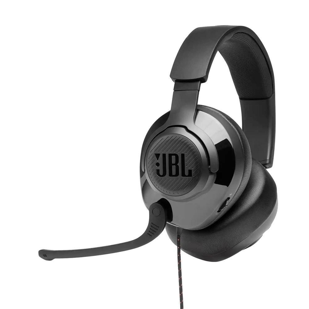 Headset Gamer JBL Quantum 200 Fone de Ouvido Over-ear com Conector 3,5mm P3 + Adaptador 2xP2 para PC