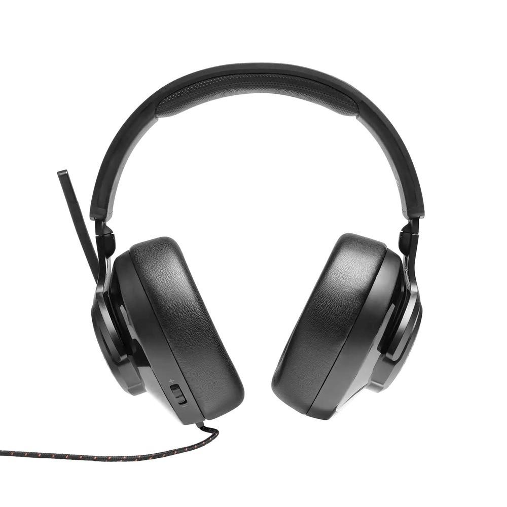 Headset Gamer JBL Quantum 300 Fone de ouvido Over-ear Som Surround Conector 3,5mm P3 + Adaptador USB