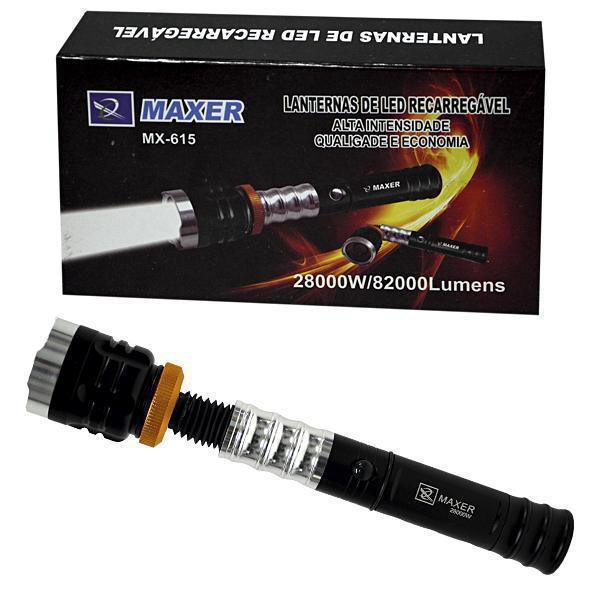 Lanterna de Alumínio LED Maxer MX-615 com Zoom Dobrável
