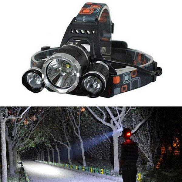 Lanterna de Cabeça LED 16W CREE T6 Quanta QTLDC43 Ajustável + Baterias + Carregador