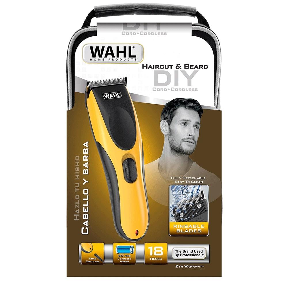 Máquina de Cortar Cabelo Wahl Haircut & Beard DIY Bivolt Aparador de Barba Com e Sem Fio 0.6 a 25mm