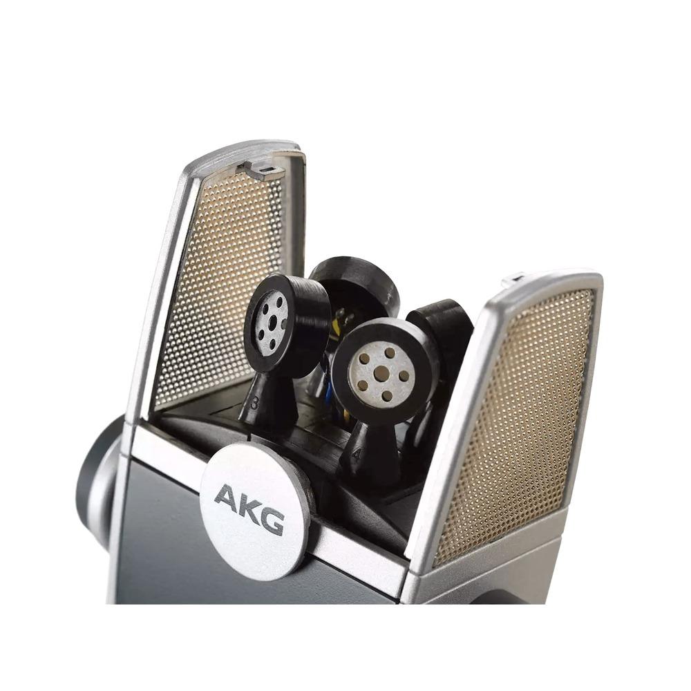 Microfone Condensador AKG LYRA C44-USB Profissional para Studio Gravação Podcasting Vídeos Youtube