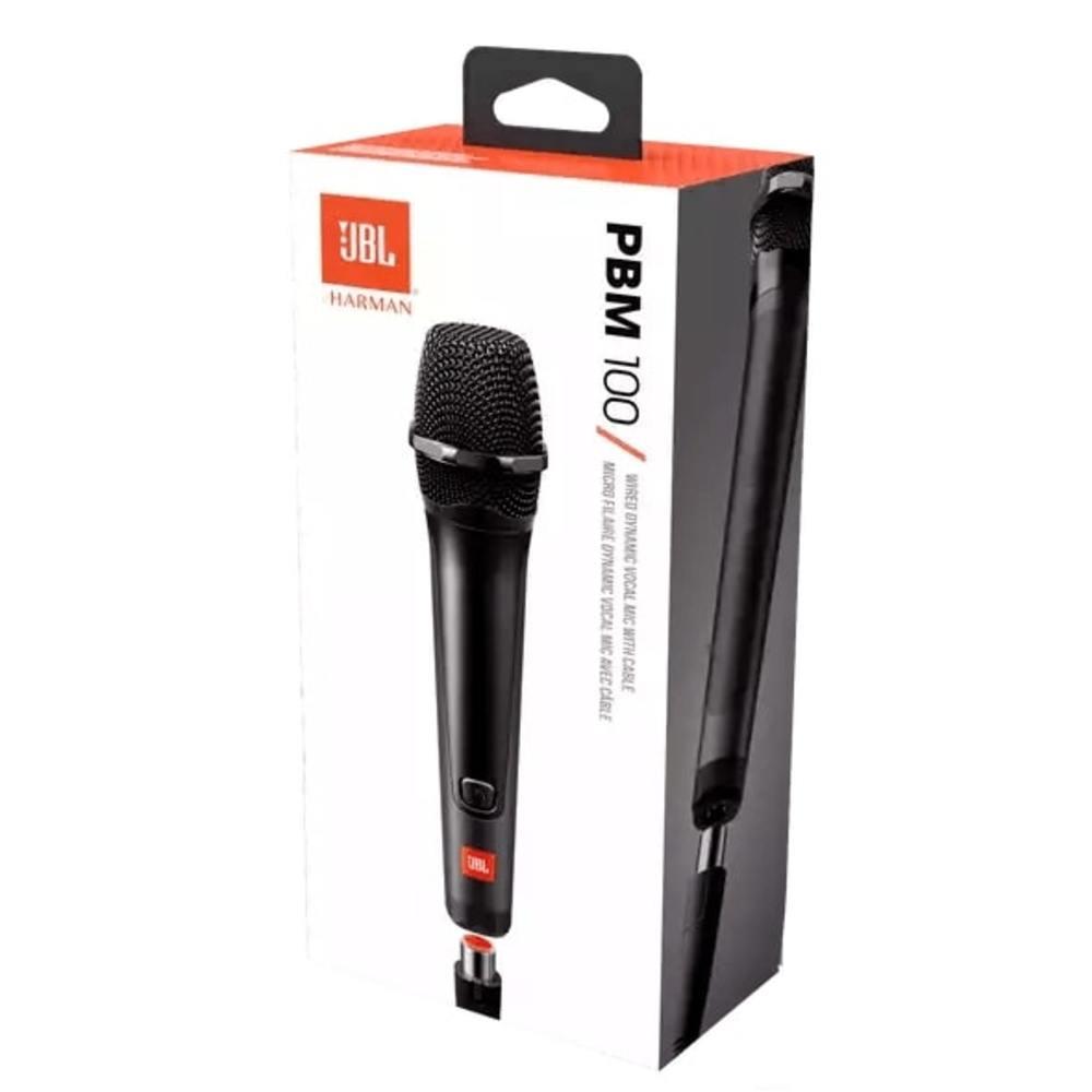 Microfone JBL PBM 100 Vocal Dinâmico Com Fio para Caixa de Som Partybox e Outras PBM100 JBLPBM100BLK