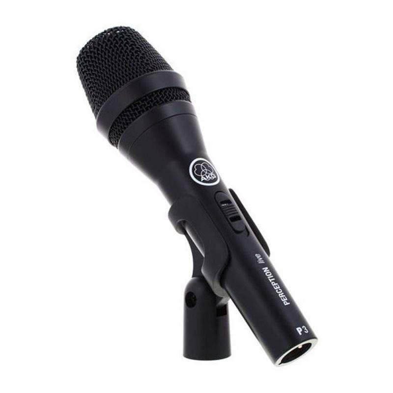 Microfone Profissional AKG Perception P3S Vocal Dinâmico para Voz Violão e Instrumentos de Sopro