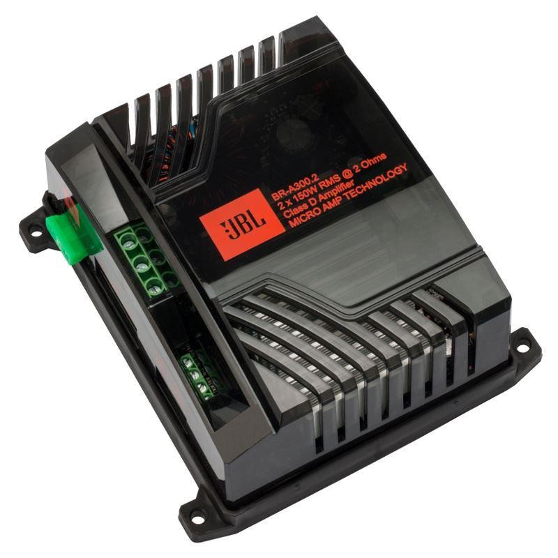Modulo Amplificador JBL BR-A 300.2 para Som Automotivo 300 Watts RMS
