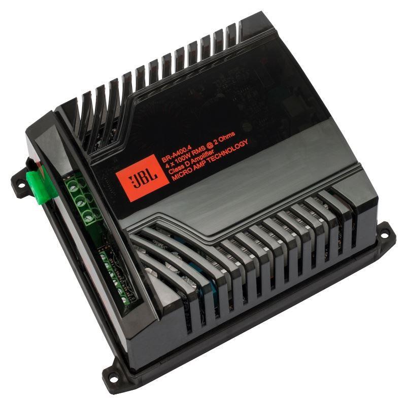 Modulo Amplificador JBL BR-A 400.4 para Som Automotivo 400 Watts RMS