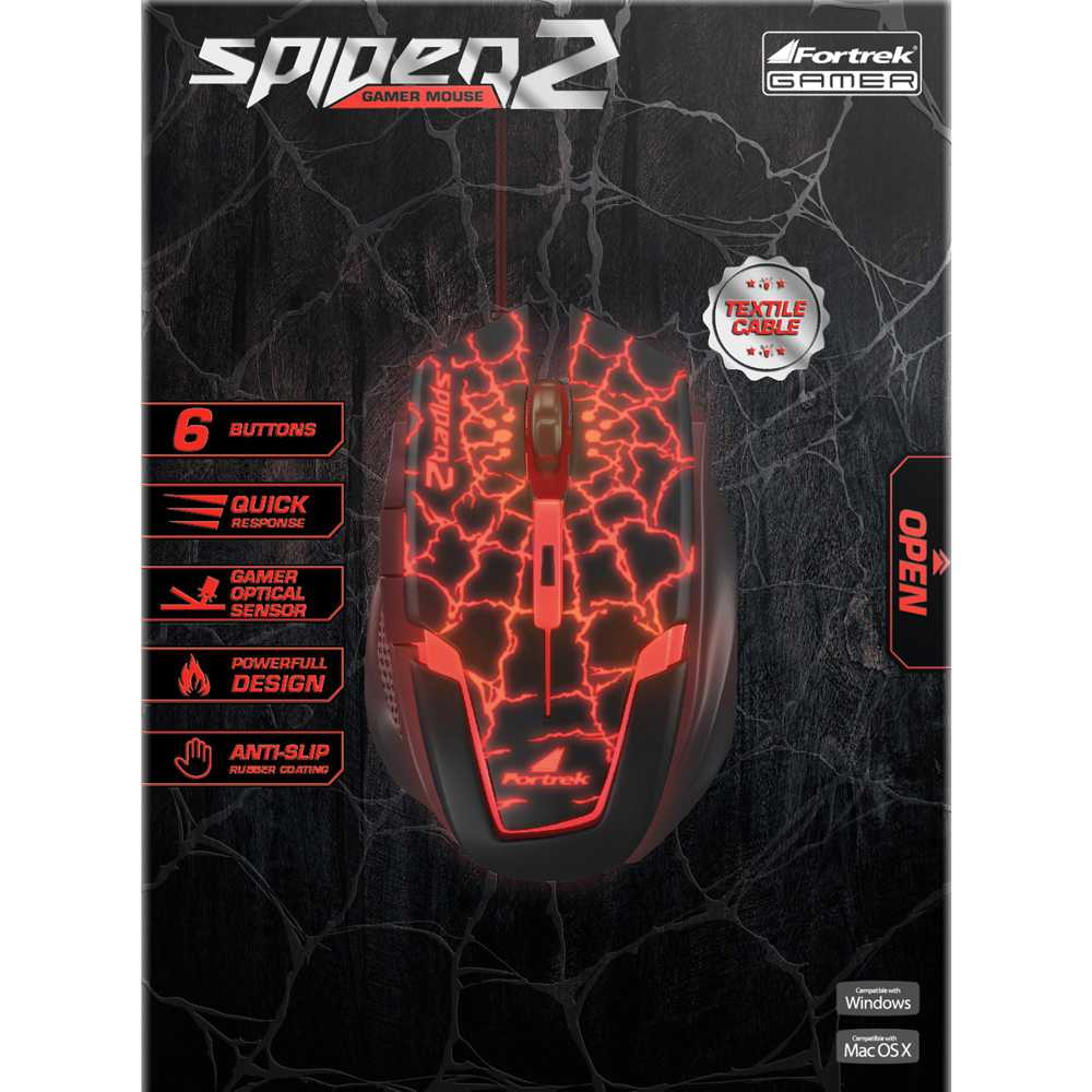 Mouse Gamer SPIDER 2 Fortrek OM-705