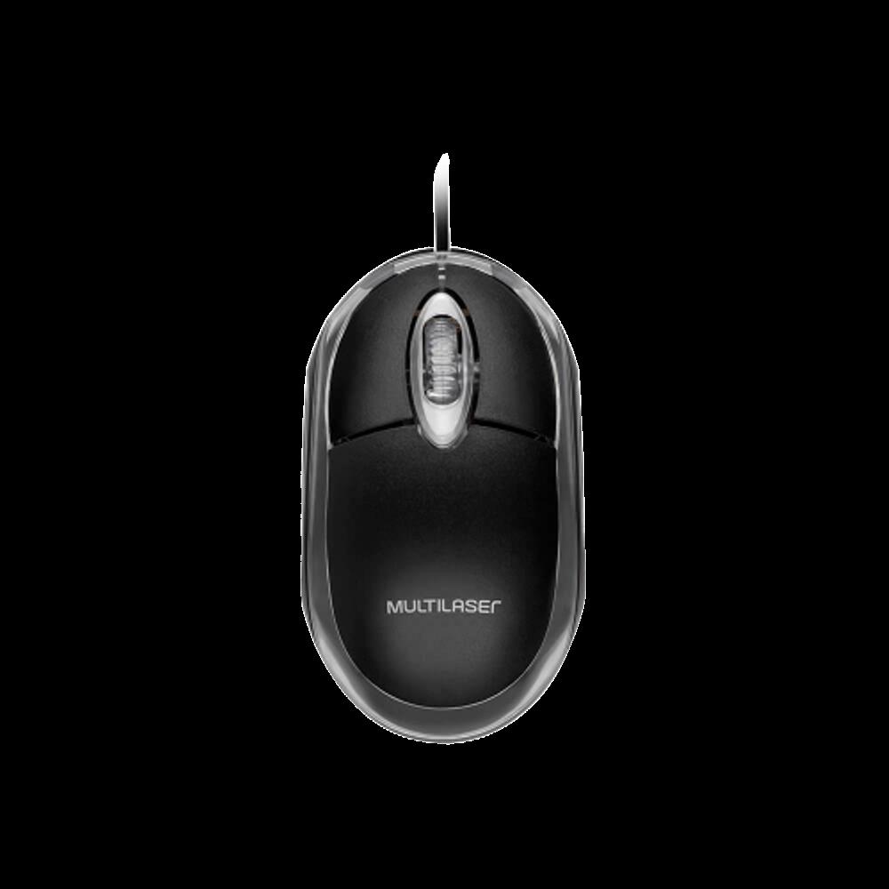 Mouse Multilaser MO179 Classic Preto Óptico USB 800 DPI