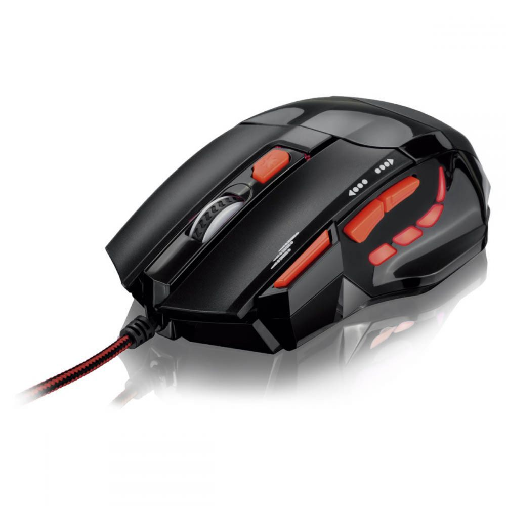 Mouse Óptico X Gamer Multilaser Fire Button USB 2400 DPI - MO236