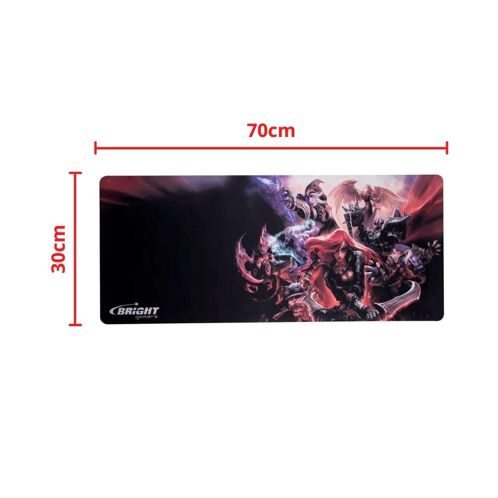 Mouse Pad Gamer Big Bright 0460 Grande 70 x 30 cm Anti Derrapante Alta Performance e Precisão