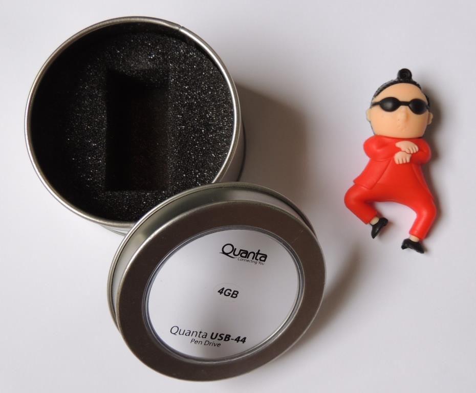 Pen Drive Personalizado Gangman Style 4GB Emborrachado Chaveiro