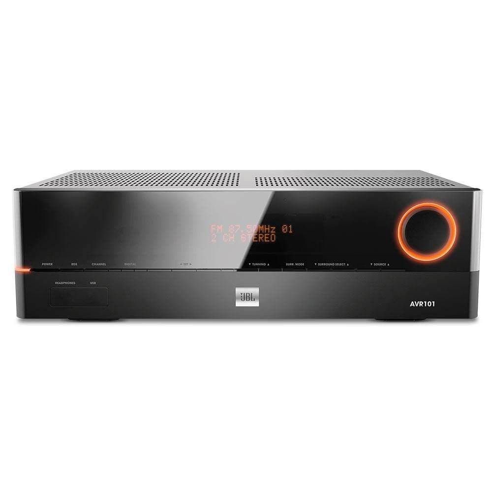 Receiver JBL AVR101 220V Áudio Surround 5.1 Vídeo 3D 375W HDMI