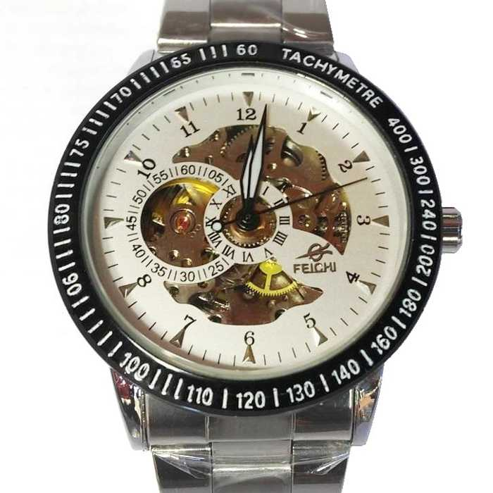 Relógio Automático Marculino Feichi Aço Inoxidável
