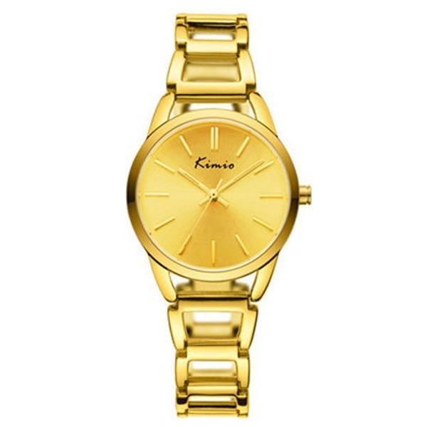 Relógio Feminino Kimio KW6105 Dourado Redondo Pulseira de Metal Dourada
