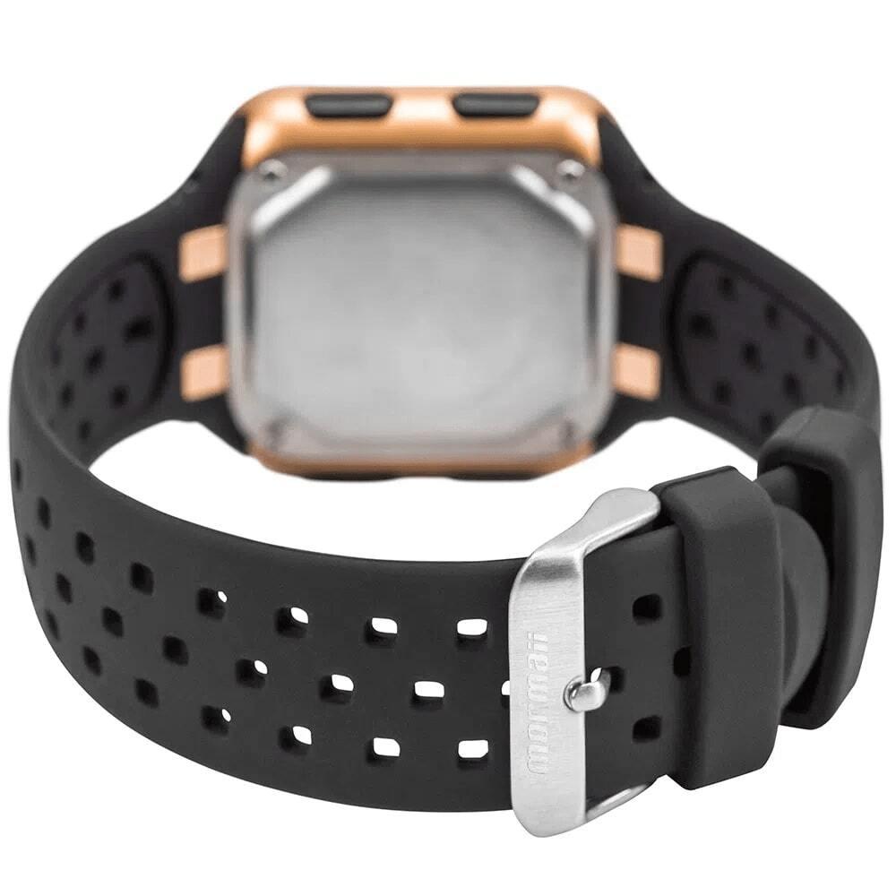 Relógio Feminino Mormaii Wave Dourado Preto Digital À Prova D'água Pulseira de Silicone MO6600/8D
