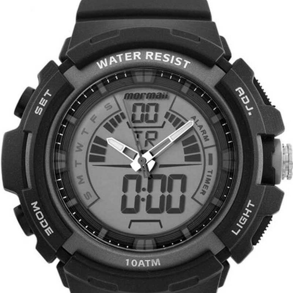 Relógio Masculino Mormaii Wave Preto Anadigi Analógico Digital À Prova D'água Cronógrafo MOAD08902/8C