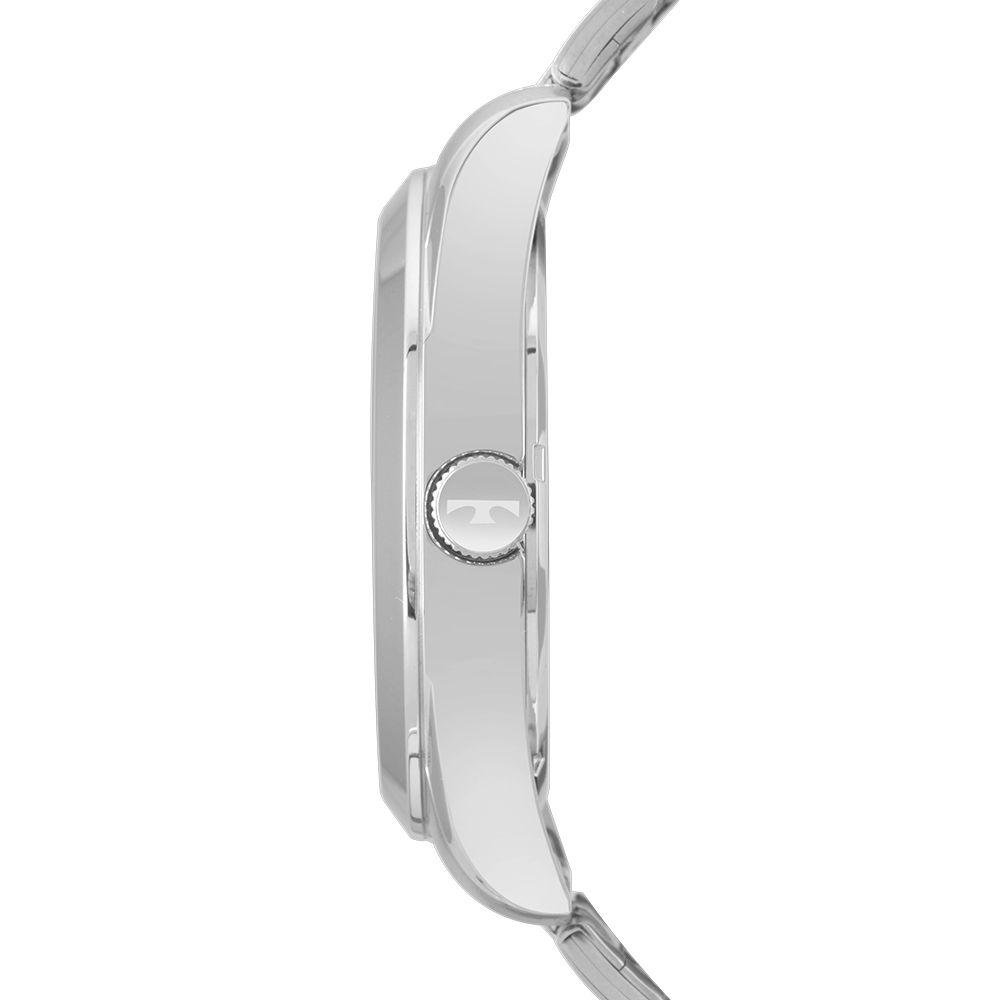 Relógio Masculino Technos Clássico Prata Classic Steel Números Romanos Aço Inoxidável 22115MXMS/1P