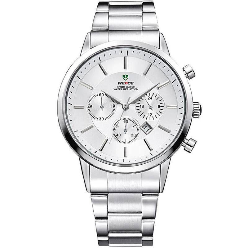 Relógio Masculino Weide WH3312 Clássico Aço Inoxidável