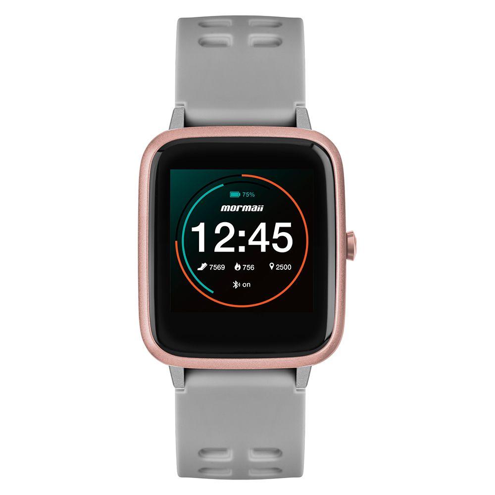 Relógio Smartwatch Mormaii Life Rose Monitor Cardíaco Sono Contador de Passos Distância MOLIFEAC/8K
