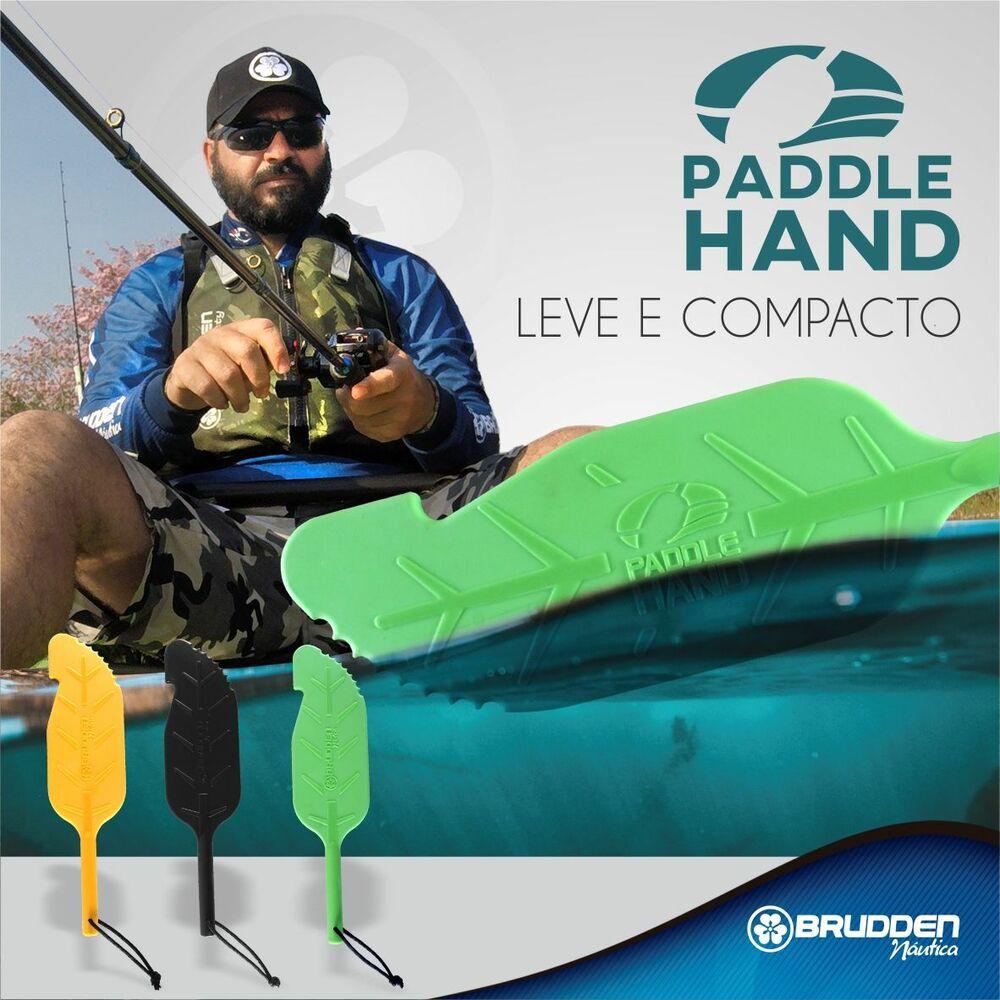 Remo de Apoio Paddle Hand Brudden Náutica Amarelo Remo para Pesca