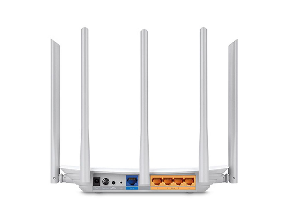 Roteador TP-LINK AC1350 Archer C60 Wireless Dual Band 867Mbps 5Ghz 450Mbps 2.4Ghz MU-MIMO 5 Antenas