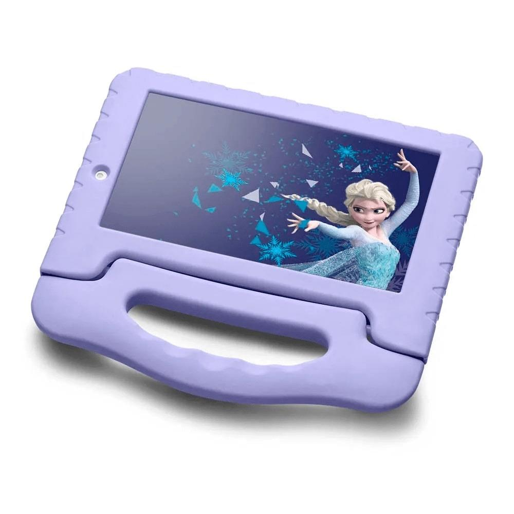 Tablet Infantil Disney Frozen Kids Plus Multilaser NB315 Capa Emborrachada Roxo 16GB Bluetooth Wi-Fi