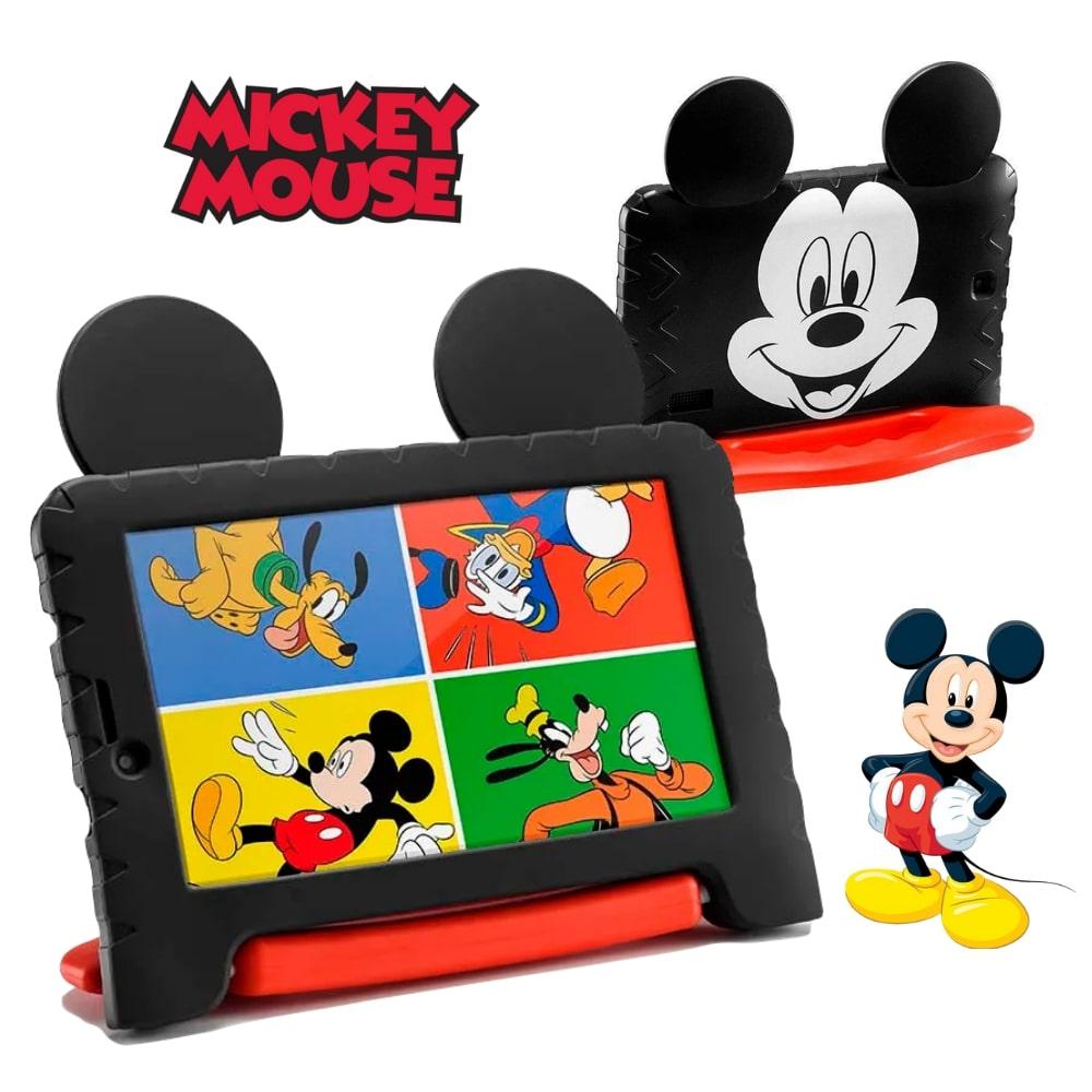 Tablet Infantil Disney Mickey Mouse Plus+ Multilaser NB314 Capa Emborrachada 16GB Bluetooth Wi-Fi