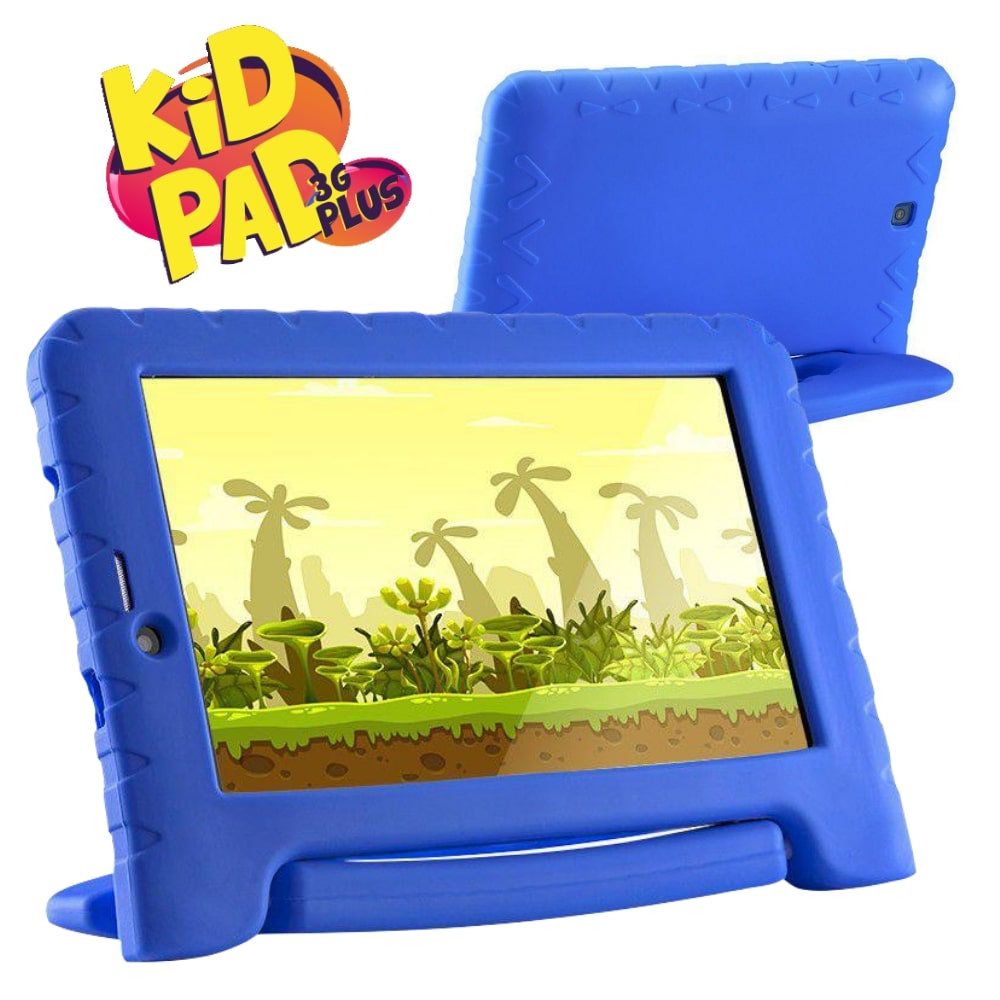 Tablet Infantil Kid Pad 3G Plus Multilaser NB291 Azul para Criança Aula Online Youtube Netflix Jogo