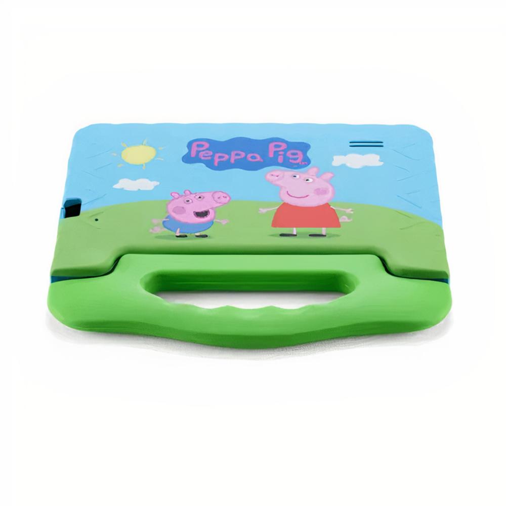 Tablet Infantil Peppa Pig Multilaser NB375 Azul Verde 32GB Para Criança Youtube Netflix Play Store