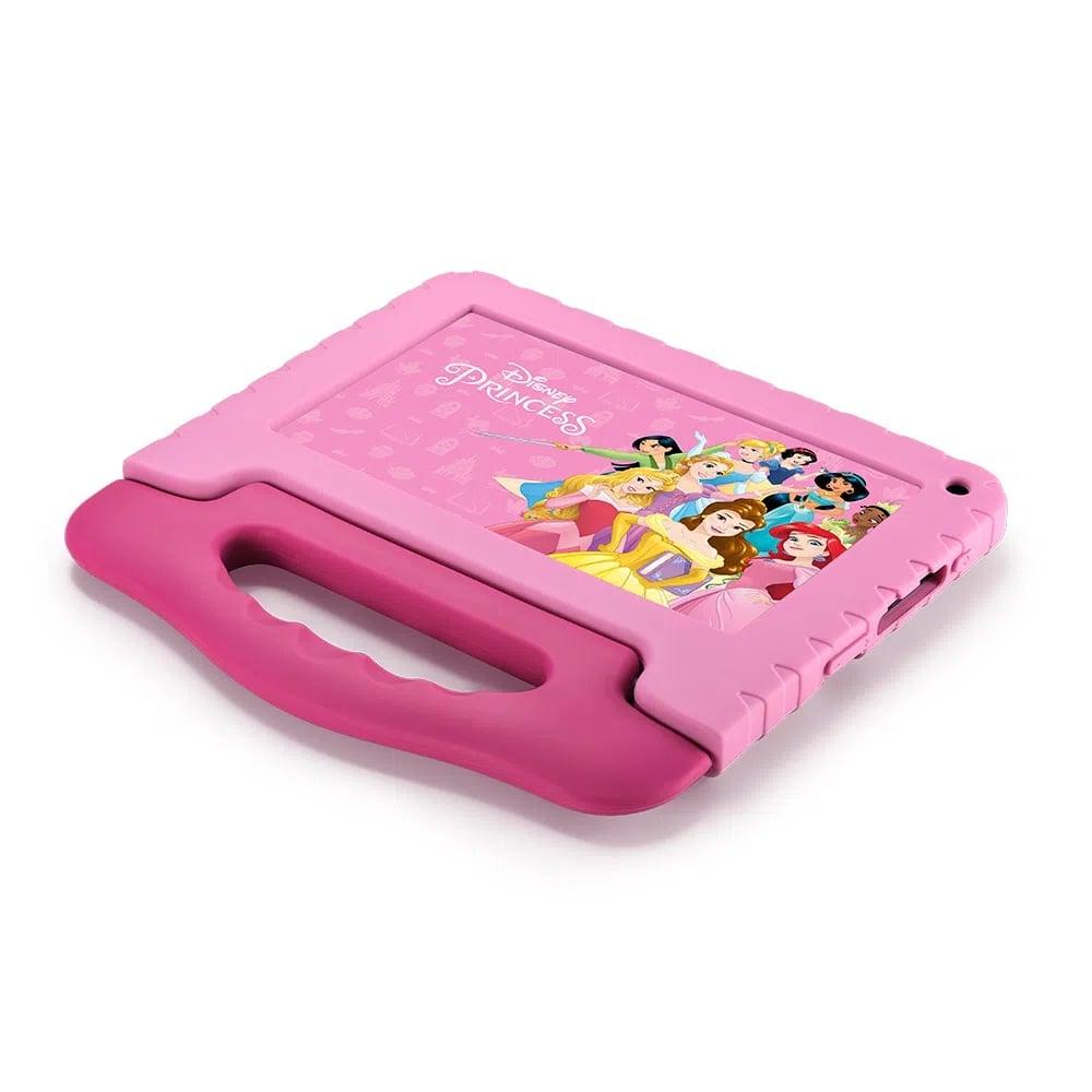Tablet Infantil Princesa Disney Multilaser NB372 Rosa Kids Capa Silicone 32GB Para Criança Youtube