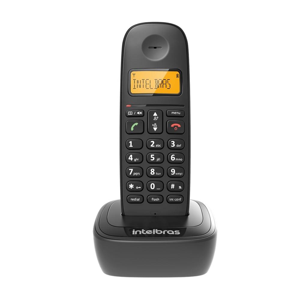 Telefone Sem Fio Intelbras TS2510 ID Preto Digital Com Identificador de Chamadas e Visor Iluminado