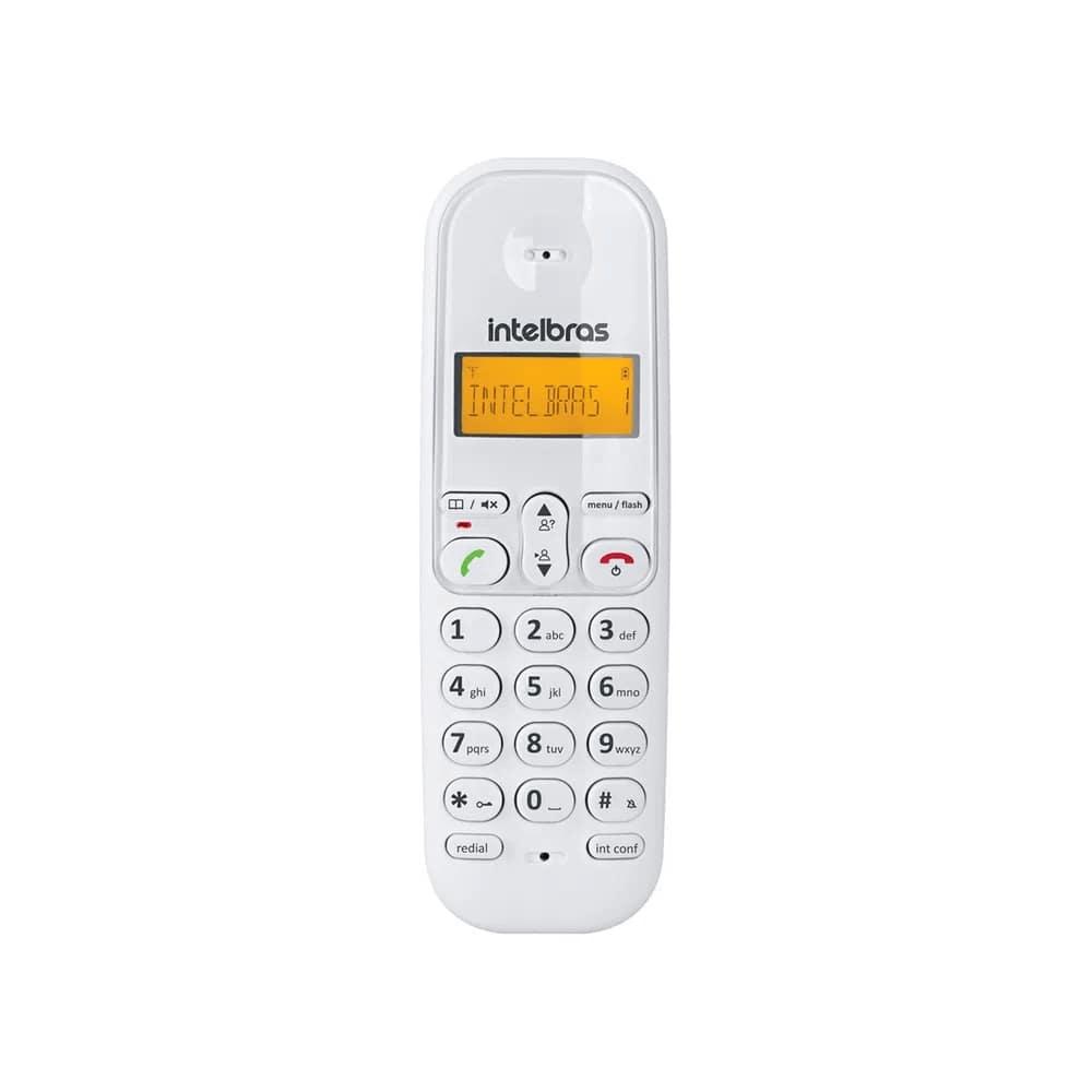 Telefone Sem Fio Intelbras TS3110 Branco Digital Com Identificador de Chamadas e Visor Iluminado