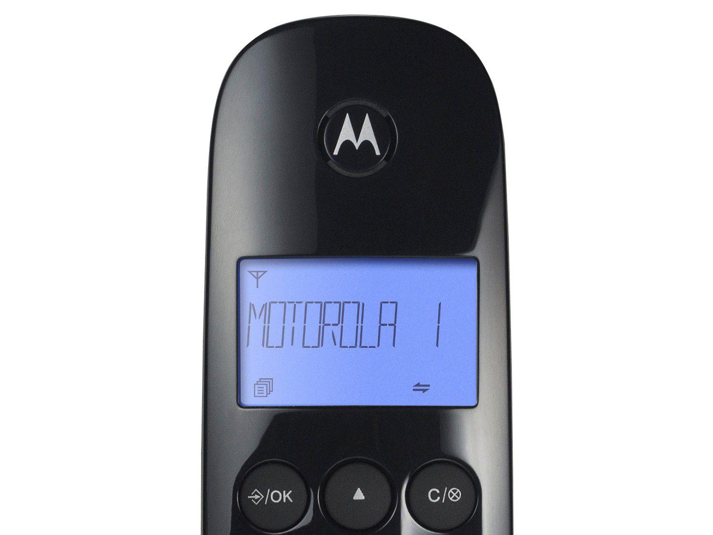 Telefone Sem Fio Motorola Moto 700 Digital com Identificador de Chamadas Visor Iluminado Moto700