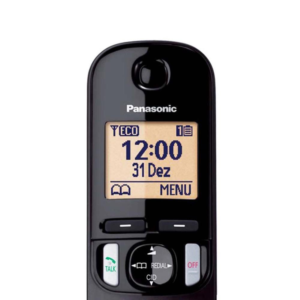 Telefone Sem Fio Panasonic KX-TGC220LBB com Secretária Eletrônica e Bloqueador de Chamadas