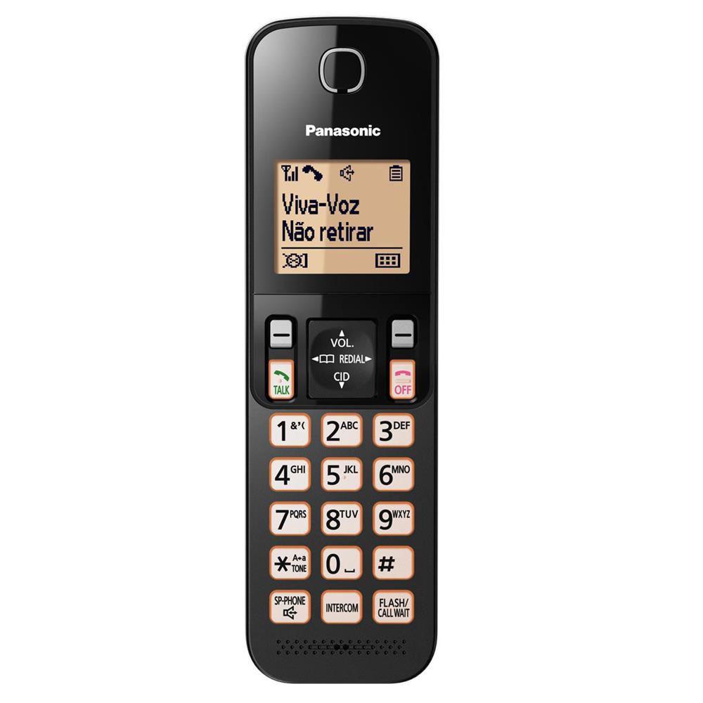 Telefone Sem Fio Panasonic KX-TGC350LBB Com Backup de Energia Identificador e Bloqueador de Chamadas
