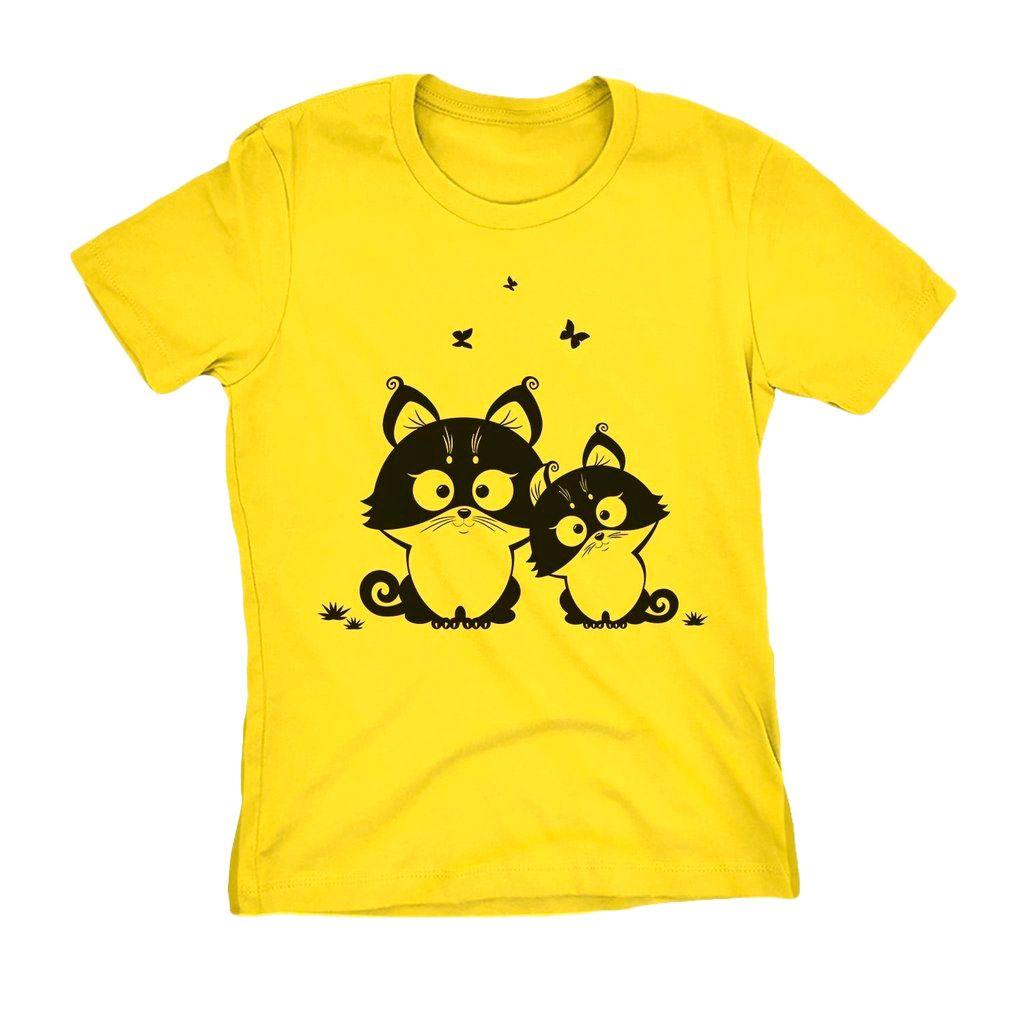 Blusa com estampa de Gato Cat Baby Look Feminina