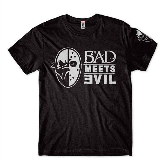 blusa eminem bad meets evil masculina preta camiseta barata