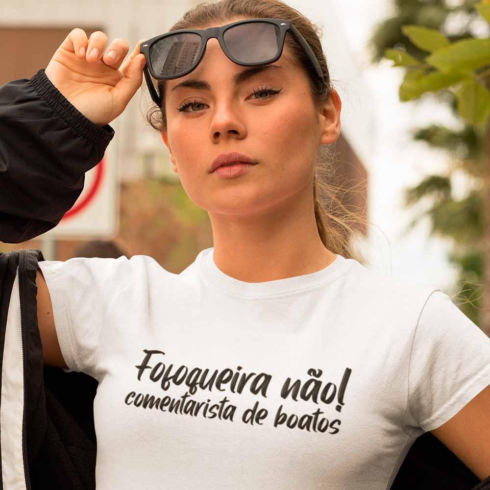 Blusa feminina divertida Fofoqueira nao comentarista de boato