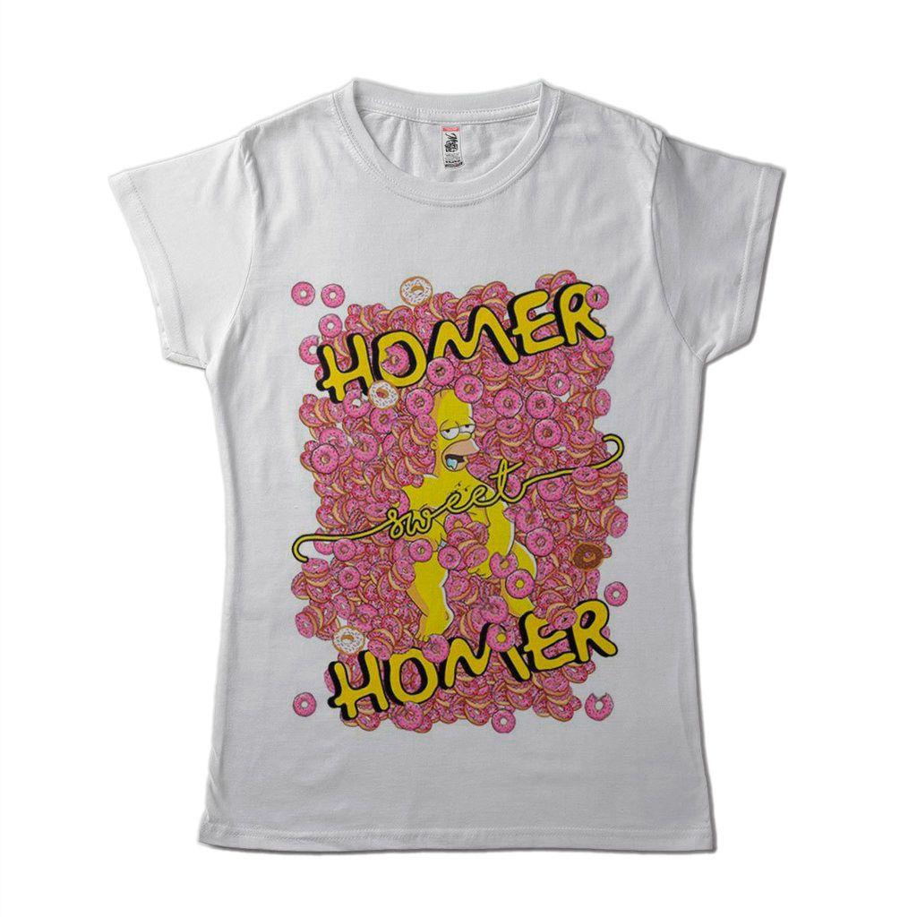 Blusa Feminina Engracada Homer Simpson Barata